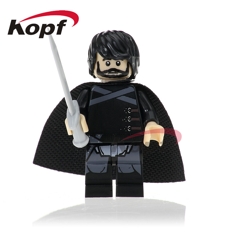 Single Sale Super Heroes Jon Snow Sansa Caitlin Stark Game of Thrones Ice and Fire Building Blocks Children Gift Toys PG1051 game of thrones jon snow wigs black curly synthetic hair
