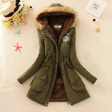 2016 Women's Thick Warm Long Winter Jacket Women Parkas For Female Hooded Anorak Lady Fur Jackets and Coats Women Manteau Femme