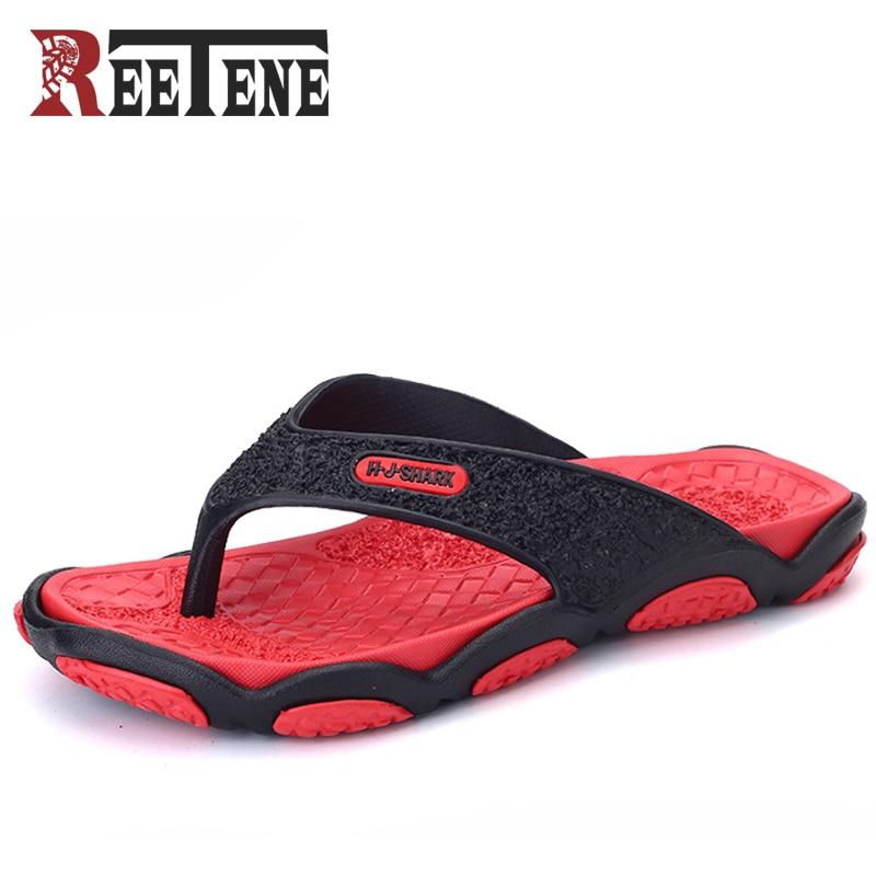 Reetene Summer Flip Flops For Men Fashion Bathroom Men Slippers High Quality Summer Men Flip Flops 2018 New Beach Men Shoes