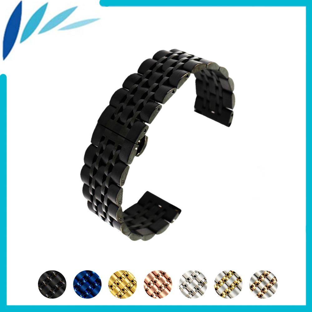 Stainless Watch Band 20mm 22mm for Amazfit Huami Xiaomi Smart Watchband Butterfly Buckle Strap Quick Release Loop Belt Bracelet ashei 22mm newest nylon loop watchbands for xiaomi huami amazfit strap watch band woven nylon fabric bracelet for huami amazfitt