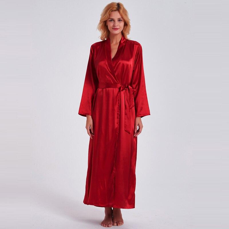 Fiklyc underwear 2019 spring sexy women's long nightdress + bathrobes two pieces robe & gown sets nighties HOT satin sleepwear 1
