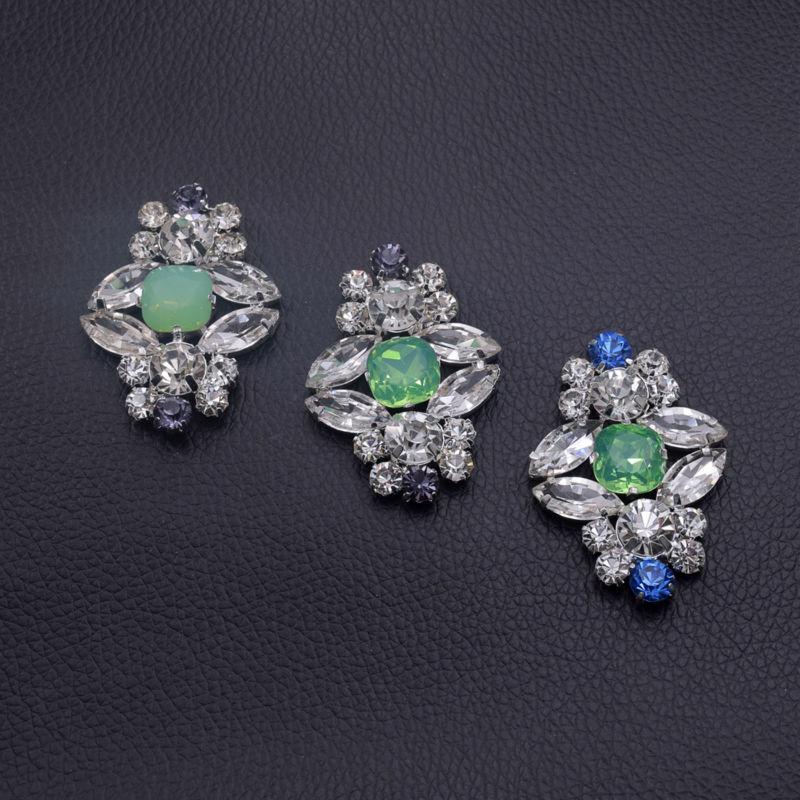 Confiado 2017 Nuevos Botones De Diamantes De Imitación De Lujo De Colores De Jalea De Primavera