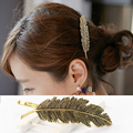 Fashion Women Girl Vintage Style Bridal  Leaf feather Hair Clip Hairpins Barrette Wedding Decoration Hair Accessories Hairwear
