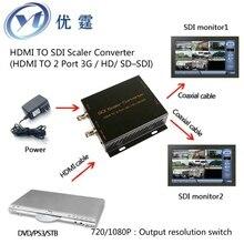 YOUTING HDMI TO SDI Converter 2 Port 3G HD SD SDI 720 to 1080p to 720p