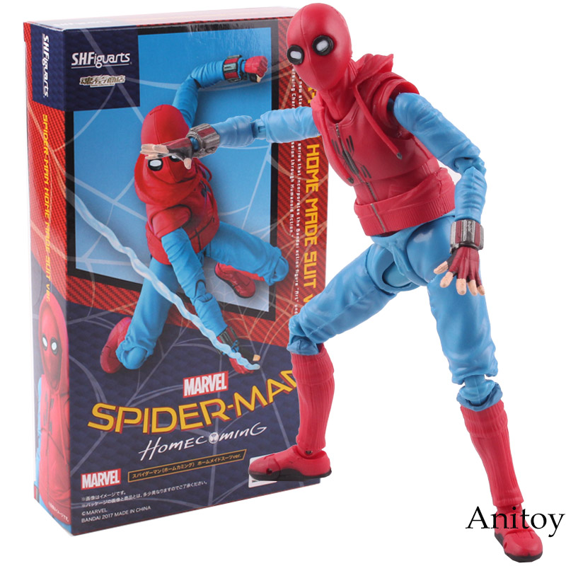 SHF S.H.Figuarts Spider Man Homecoming Spiderman Home Made Suit Ver. PVC Marvel Spider-man Action Figure Collectible Model Toy superhero spiderman movable figure spider man homecoming pvc action figure model toy boxed