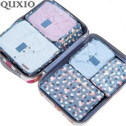 2019 neue Beliebte Reisetaschen 6 teile/satz Doppel-reißverschluss Wasserdichte Polyester Männer Und Frauen Gepäck Verpackung Würfel Folding Tasche ML150Z