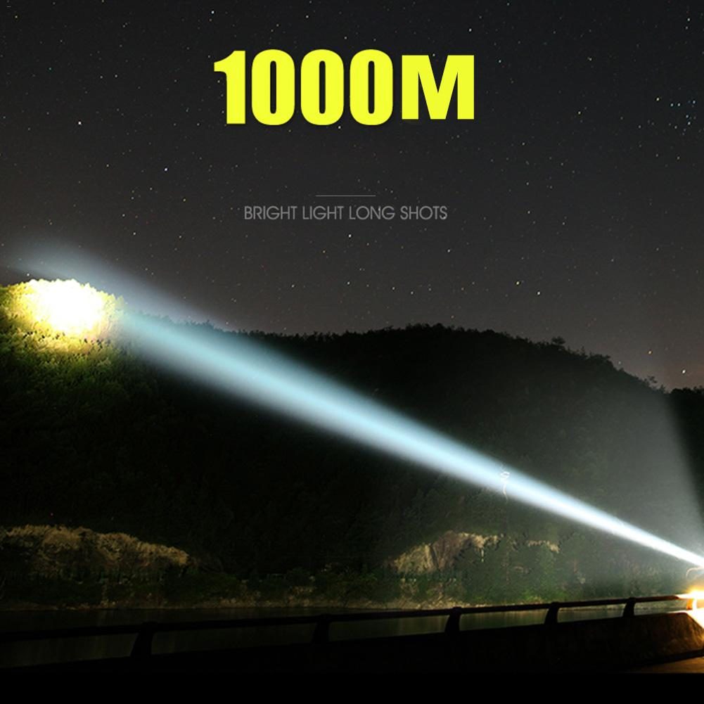 LED Camping Light Rechargeable Spotlight Outdoor Camping Lantern Flashlight Work Torch Waterproof Searchlight For Hiking Fishing