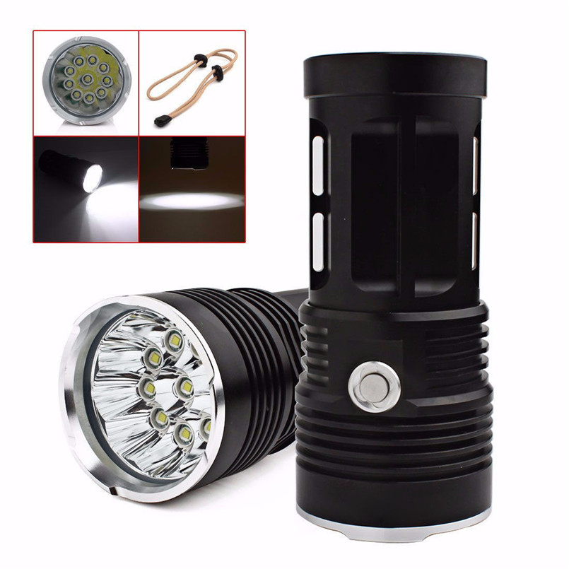 Super Bright 28000LM 11 x CREE XM-L T6 LED Flashlight 18650 Led Lamp Torch Portable lantern Camping NOA27