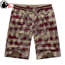 Bermuda Male Hot 2020 Summer Elastic Waist Mens Plaid Shorts Classic Design Breeches Cotton Casual Beach Short Pants Big Size 44