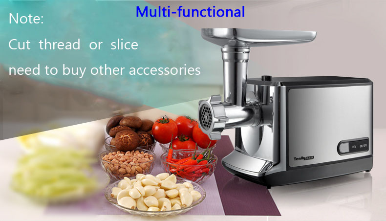 Household Electric Meat Grinder Stainless Steel Meat Mincer Mincing Machine THMGF500A meat grinder household multifunction meat grinder high quality stainless steel blade home cooking machine mincer sausage machine