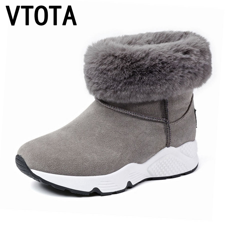 VTOTA Women Winter Boots Casual Warm Snow Boots Waterproof Shoes Woman Slip On Shoes For Women Platform Shoes botas mujer E97 vtota snow boots women winter boots hot warm fur flat platform shoes women slip on shoes for women botas mujer ankle boots e62