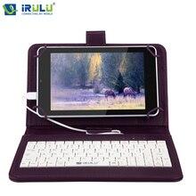 "IRULU eXpro X4 7 ""IPS 1280*800 Android 5.1 Tablet PC Quad Core Dual Camera 1 Г + 16 Г поддержка Bluetooth Wifi w/RU Клавиатура случае"