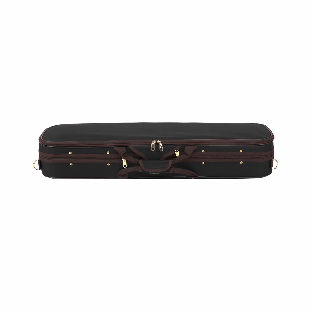 High Grade Pleuche Rectangle Violin Case 4 4 3 4 1 2 1 4 w Hygrometer