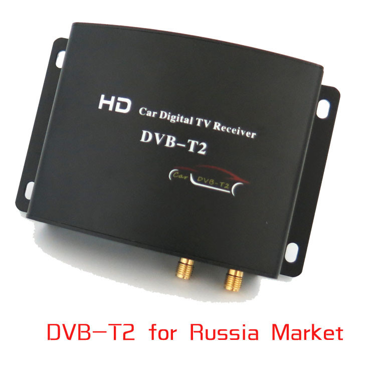 High Speed HD Car TV Tuner Mobile DVB-T T2 MPEG-4 Digital TV Receiver Box Dual antennas for Russia European автомобильные телевизоры mdh car hd dvb t