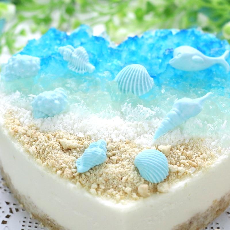 3d Sea Shells Beach Shells Ocean Shapes Fondant Mold Silicone Sugar