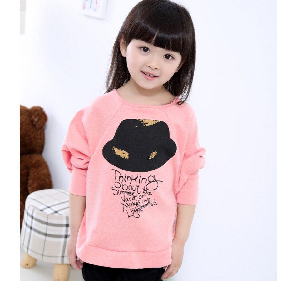 Clothing T-Shirts Tops Short-Sleeve Print Autumn Girl Baby Kids Children Cute Fashion