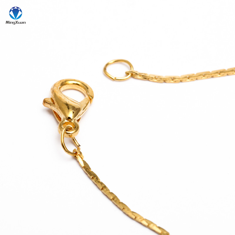 12pcs Gold Silver Rhodium 40cm Length Lobster Clasp Metal Link Chain Necklace Simple Necklace Chain DIY Jewelry Findings in Jewelry Findings Components from Jewelry Accessories