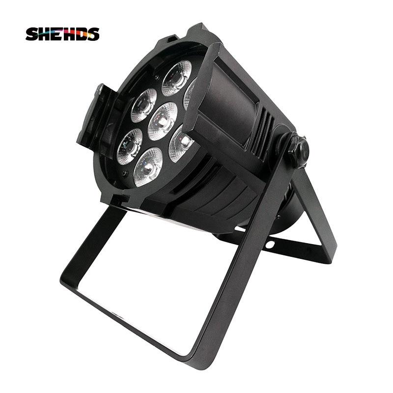 Novelties LED Par 7x18W Light Aluminum Cast RGBWA+UV Dmx Stage Light Fixture Profession For Home Entertainment Lamp