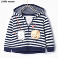 Little maven 2016 winter boys brand clothes children striped hooded coat cotton Hoodies & Sweatshirts WY056