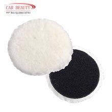 Almohadilla de pulido de lana para pulidora, almohadillas de pulido y encerado para cuidado de pintura de coche, para pulidora de coche, 4/5/6/7 pulgadas, 1 ud.