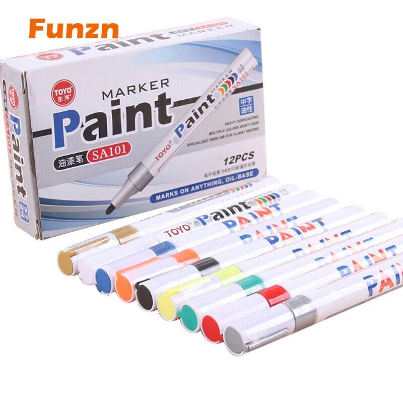 """1 vnt pristatomasis rašiklis CD plastikiniam medžio popieriui Dažų žymiklis """"Caneta escolar"""" biuro mokyklai, skirtas įvairių spalvų rašalui, apvalus iki"""