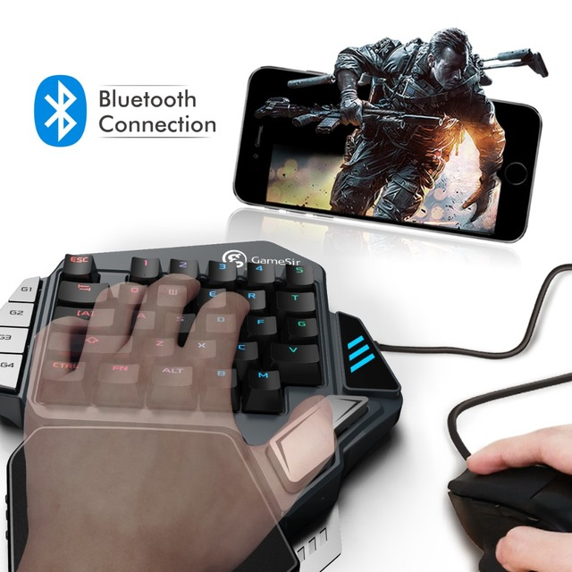 GameSir Z1 Kailh Gaming Keypad for Mobile/PC games, AoV,Mobile Legends. One-handed Green Axis mechanical keyboard RGB blacklight 2