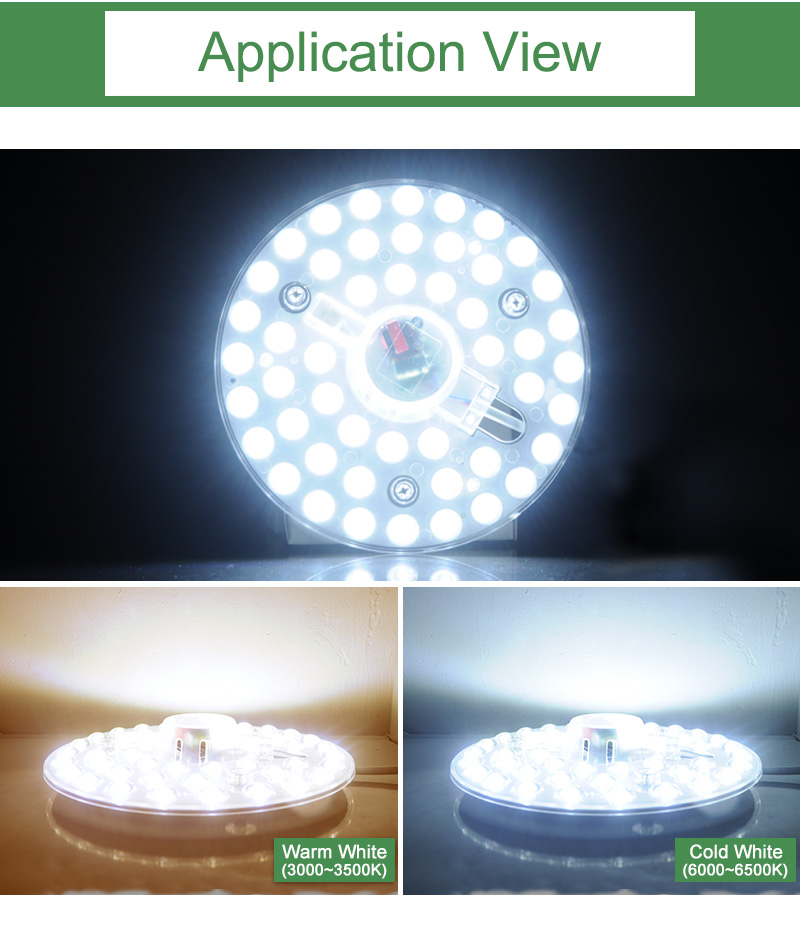Kaguyahime Long Life LED Module 12W 18W 24W LED Panel Ceiling Light Lamp Replace Accessory Magnetic Source Light Board Bulb 220V