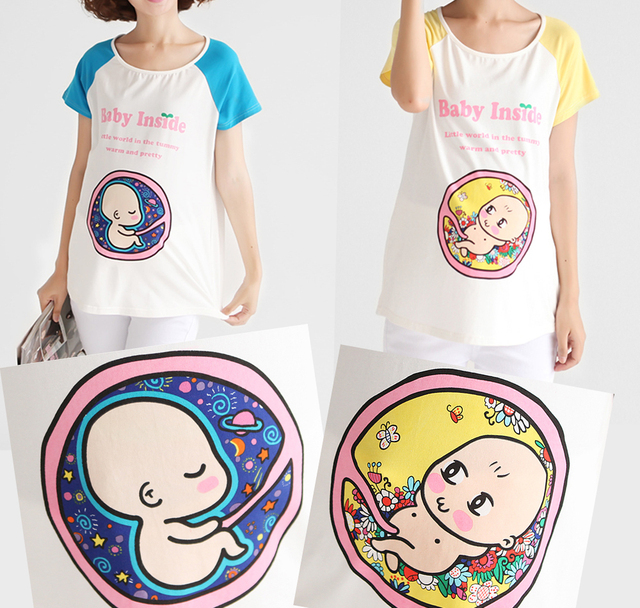 maternity top t shirt baby boy girl inside pregnancy clothing top