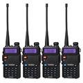 4 Pcs BaoFeng UV-5R Walkie Talkie Dual Band VHF/UHF136-174Mhz & 400-520 Mhz Handheld Baofeng uv5r Dois maneira de Rádio
