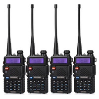 4Pcs BaoFeng UV 5R Walkie Talkie Dual Band VHF/UHF136 174Mhz & 400 520Mhz Handheld Baofeng uv5r Two Way Radio