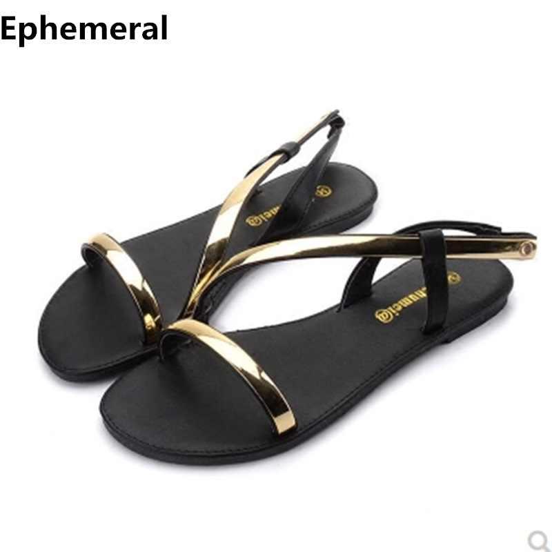 Ladies Back Strap Sandals Flat Shoes