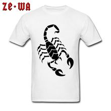 6bcf5f1401be Image T Shirt For Men Black Scorpion Tattoo 100% Cotton Fabric Man Plus  Size 3XL White Orange Blue 16 Colors Wholesale Custom