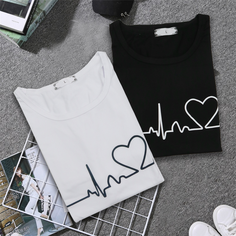 19 New Harajuku Love Printed Women T-shirts Casual Tee Tops Summer Short Sleeve Female T shirt for Women Clothing 17