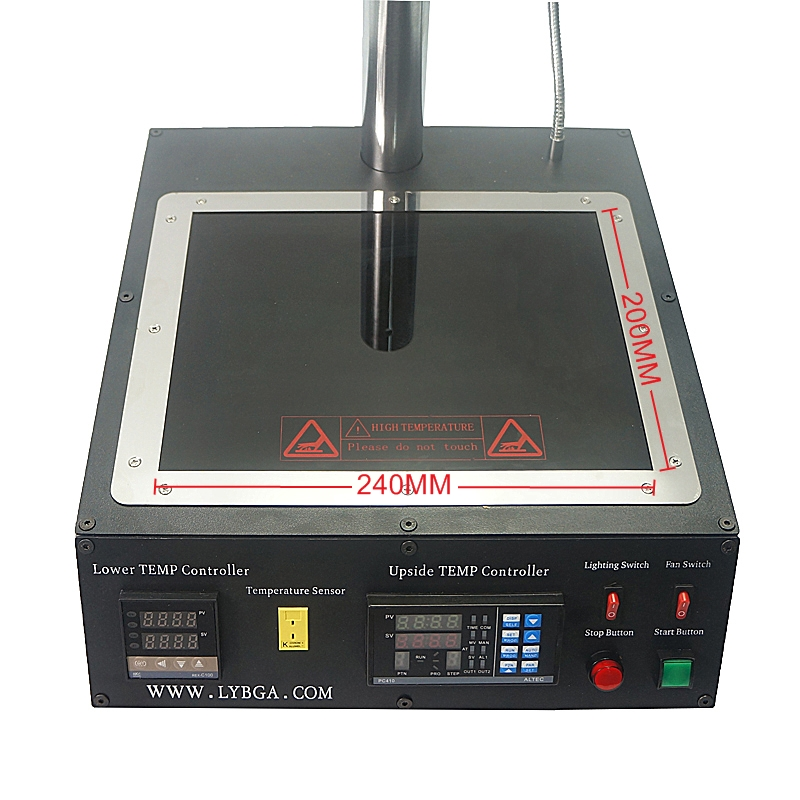 2300W Infrared BGA Rework station LY IR6500 V.2 with 80MM/90MM bga reballing stencil 184pcs kit pack