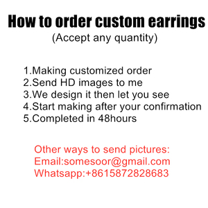 Image 4 - SOMESOOR 3 Sizes Custom Made Round African Wooden Drop Earrings Personalized Photos Printed Ear Dangle Wholesale For Women Gifts