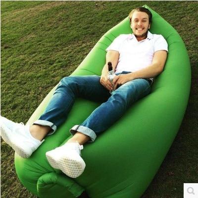 Portable air sleeping bag outdoor leisure sofa inflatable air mattress single folding sleeping bag lunch break цена