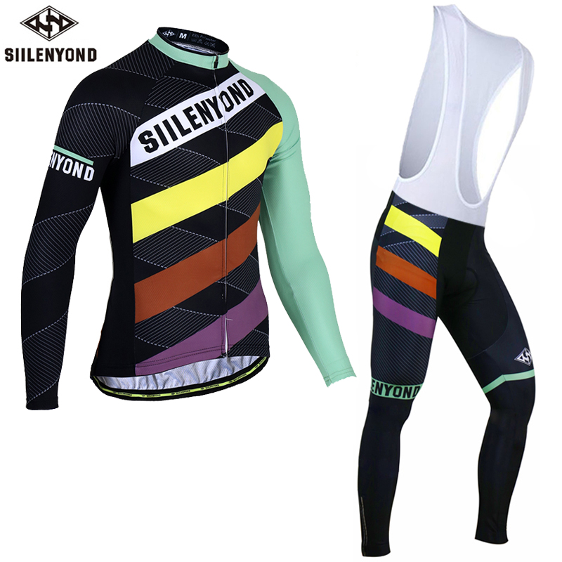 Siilenyond 2017 Thermal Fleece Cycling Jersey Set Winter Bike Wear Maillot Ropa Ciclismo Invierno Hombre MTB Bicycle Clothing цена 2016