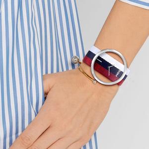 Image 4 - Kadın saatler DOM marka lüks moda rahat kuvars benzersiz şık Hollow İskelet saatler naylon spor Lady saatı LP 205
