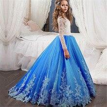 Yeni Uzun Kollu Ilk Cemaat Elbiseler O boyun ile Yay Kanat Çiçek Kız Elbise balo elbisesi Custom Made Vestidos