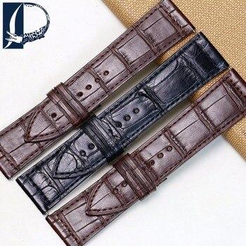 Pesno Black Brown Watchband  Alligator Skin Leather Watch Strap 30x22mm 26x19mm 24x22mm Suitable for Franck Muller