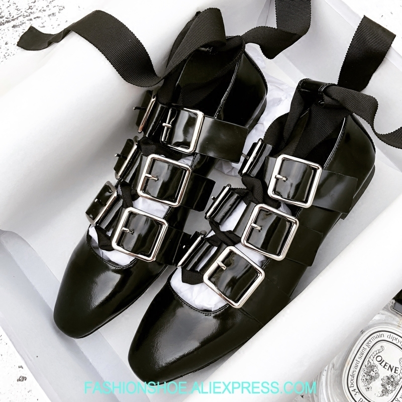 Soft Leather Women Flats Buckles Lace Up Squared Toe Ballet Flats Summer Loafers zapatos mujer Sexy Cross Strappy Shoes Woman odetina 2017 new designer lace up ballerina flats fashion women spring pointed toe shoes ladies cross straps soft flats non slip