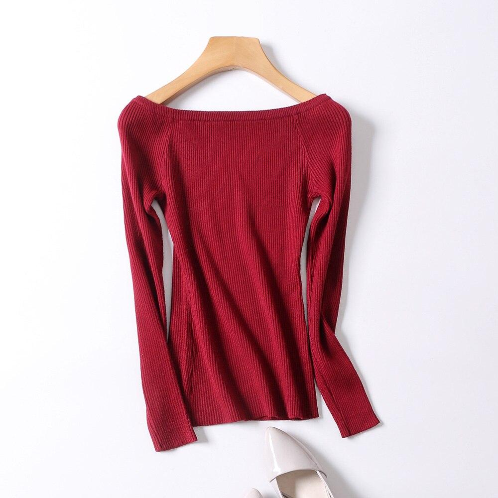 Basic Girls Boat neckline Strapless Sweater 4