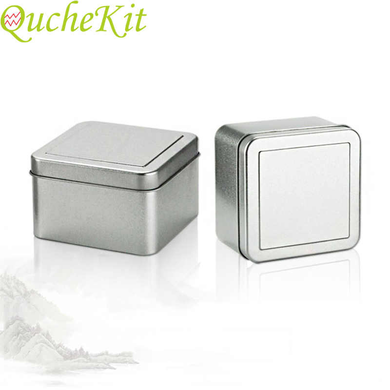 3pcs 50ml Square Metal Storage Box Gift Jewelry Organizer Box Soap Chocolate Candy Box Tin Jar Coffee Tea Cans