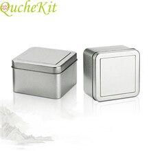 3pcs 50ml Square Metal Storage Box Gift Jewelry Organizer