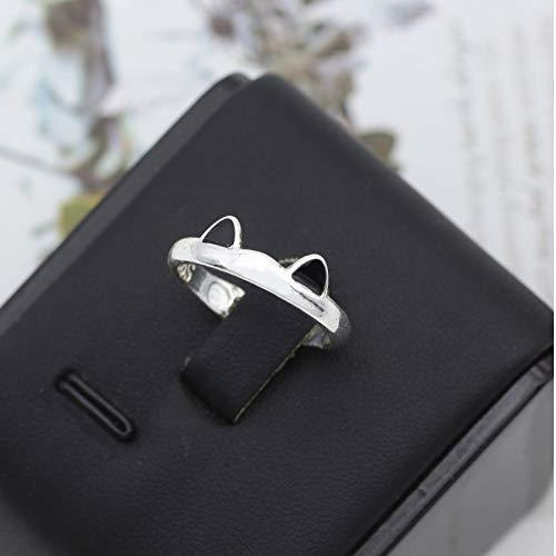Silver Color Cat Ear Finger Ring Open Design Cute Fashion Jewelry Ring For Women Young Girl