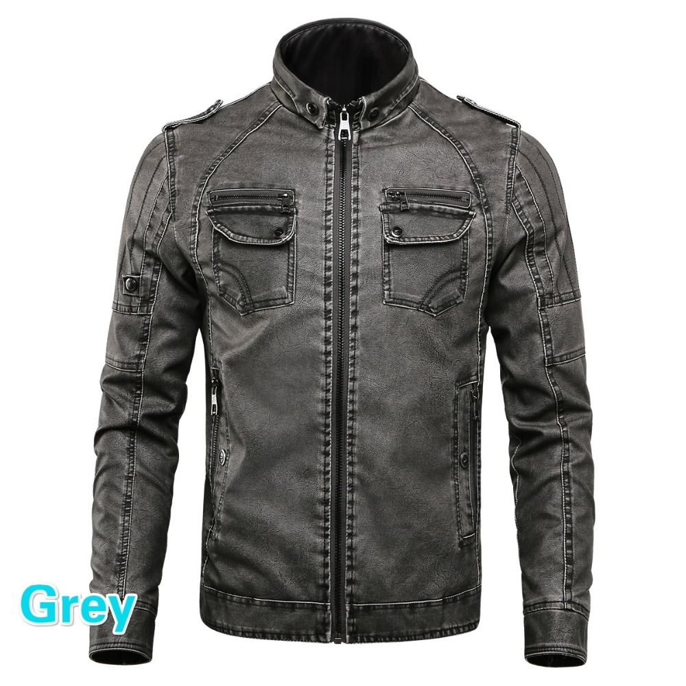 HTB1NRFRhmzqK1RjSZFHq6z3CpXaR Men PU Leather Jacket 2019 New Autumn Winter Men's Thick Casual Warm Stand Collar Zipper Coats Male Fashion Motorcycle Jackets