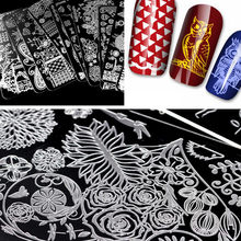 Ship From Us Diy Fashion Nail Art Stamping Plate Manicure Stamp Template Tool 100pcs Charms Gold Machine For Designs 9