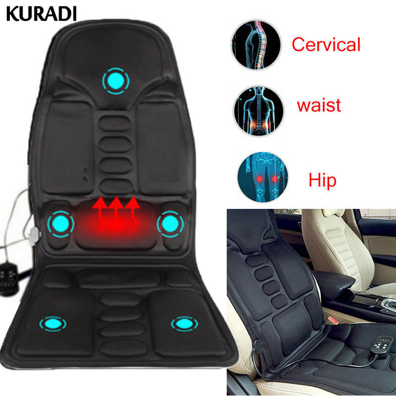 Universal Heated Back Seat Remote Control Massage Chair Car Home Relax Cushion