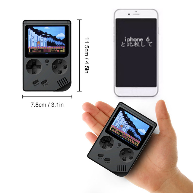 AV Port MINI Video Game Console 3.0 inches Portable Handheld Game Player Built-in 168 Games Video Games Best Gift For Kids 2