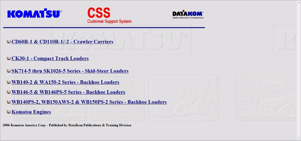 komatsu css full set service manuals wiring diagrams on aliexpress rh aliexpress com komatsu wiring diagram fg25c-12 Komatsu PC300 Wiring Diagrams